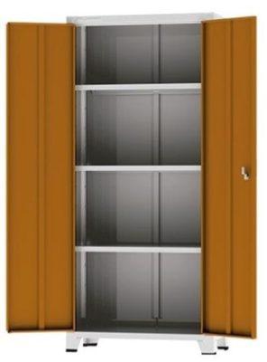 Armário alto 2 portas com prateleiras de Aço